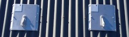 Profile grip for profile or corrugated metal roofs, rope access and fall arrest safety anchors